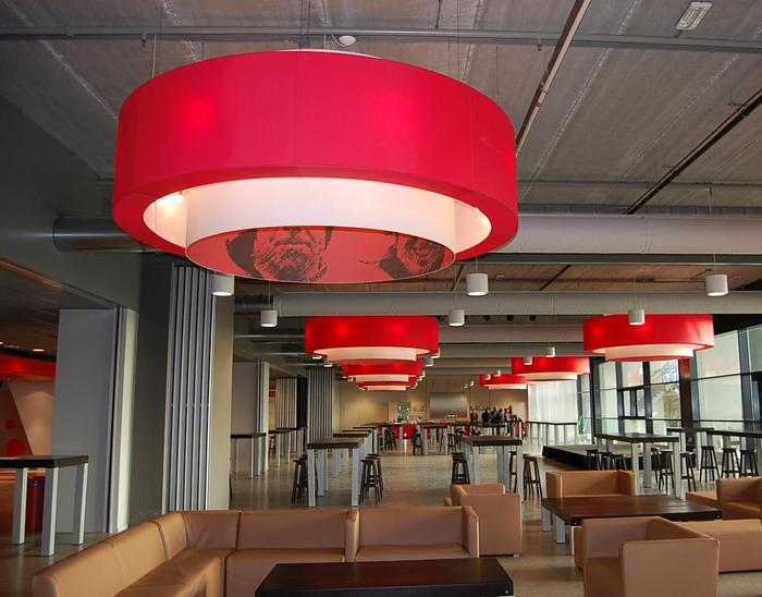 Gastro lampenschirm1 lampenschirme gastronomie for Raumgestaltung gastronomie