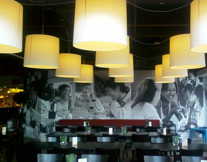Gastro lampenschirm4 lampenschirme gastronomie for Raumgestaltung gastronomie