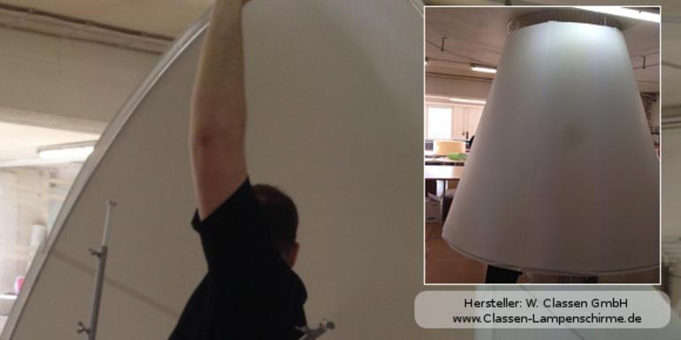giganten aus stoff und metall neuigkeiten service lampenschirme f r gesch fts und. Black Bedroom Furniture Sets. Home Design Ideas